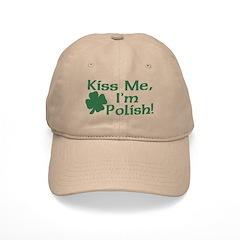 Kiss Me I'm Polish Baseball Cap