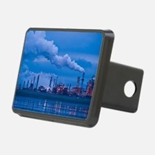 Oil refinery at dusk Hitch Cover