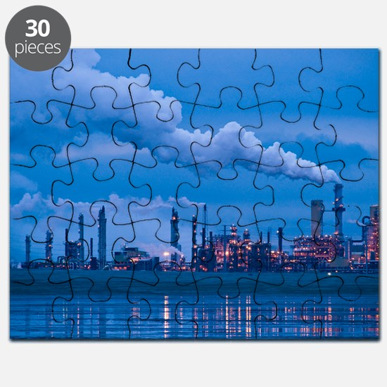 Oil refinery at dusk Puzzle