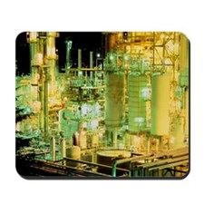 Oil refinery at night Mousepad