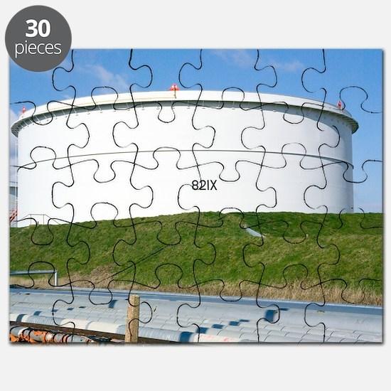 Oil refinery storage tank Puzzle