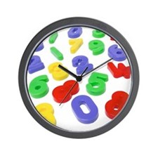Close up of colored number magnets Wall Clock