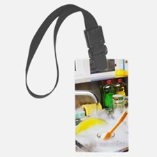 Cleaning the dishes Luggage Tag