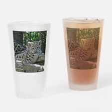 Snow Leopard Cub Drinking Glass