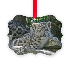 Snow Leopard Cub Ornament