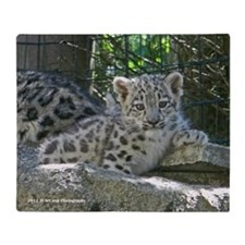 Snow Leopard Cub Throw Blanket