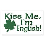 Kiss Me I'm English Rectangle Sticker