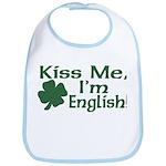 Kiss Me I'm English Bib