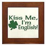 Kiss Me I'm English Framed Tile