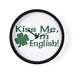 Kiss Me I'm English Wall Clock