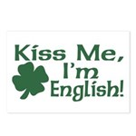 Kiss Me I'm English Postcards (Package of 8)