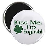 Kiss Me I'm English Magnet