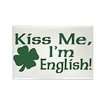 Kiss Me I'm English Rectangle Magnet