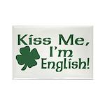 Kiss Me I'm English Rectangle Magnet (10 pack)
