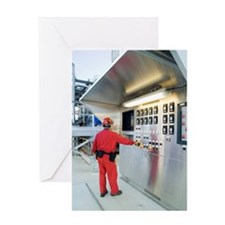 Oil refinery worker Greeting Card