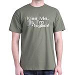 Kiss Me I'm English Dark T-Shirt