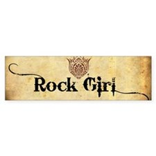ROCK GIRL * Bumper Sticker
