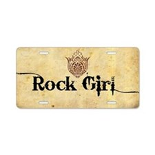 ROCK GIRL * Aluminum License Plate