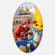 Oil refinery worker Decal