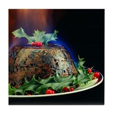 Christmas pudding Tile Coaster