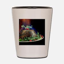 Christmas pudding Shot Glass