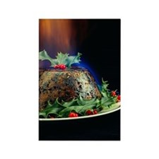 Christmas pudding Rectangle Magnet