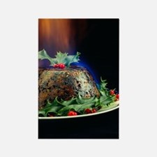 Christmas pudding Rectangle Magnet
