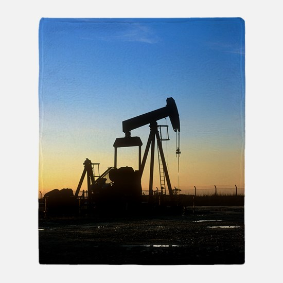 Oil well pump Throw Blanket