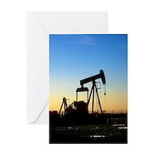 Oil well pump Greeting Card