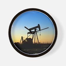 Oil well pump Wall Clock