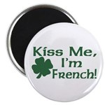 Kiss Me I'm French Magnet
