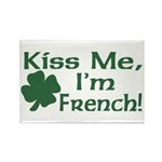 Kiss Me I'm French Rectangle Magnet