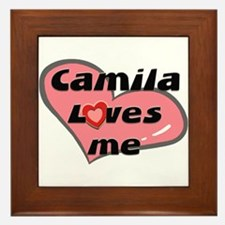 camila loves me  Framed Tile