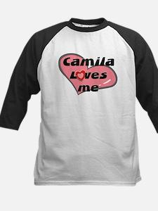 camila loves me Kids Baseball Jersey