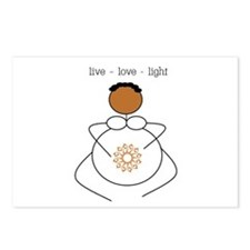 Brown Mama live/love/light Postcards (Package of 8