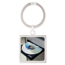 Optical disc drive Square Keychain