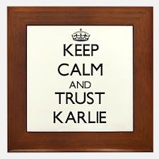 Keep Calm and trust Karlie Framed Tile