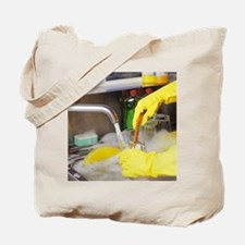 Cleaning the dishes Tote Bag