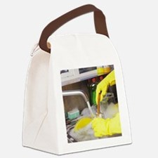 Cleaning the dishes Canvas Lunch Bag