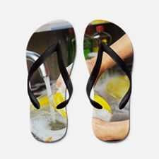 Cleaning the dishes Flip Flops