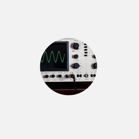 Oscilloscope wave form Mini Button