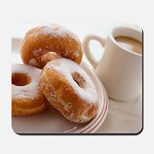 Coffee and doughnuts Mousepad