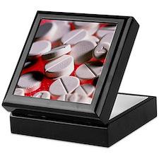 Close-up of large and small tablets o Keepsake Box