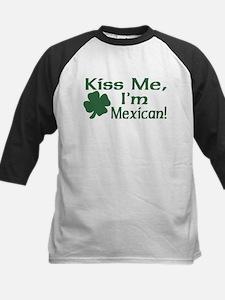 Kiss Me I'm Mexican Kids Baseball Jersey