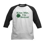 Kiss Me I'm Mexican Kids Baseball Jersey