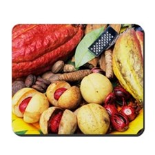 Cocoa pods and nutmeg Mousepad