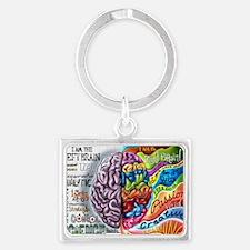 Left Brain, Right Brain Landscape Keychain