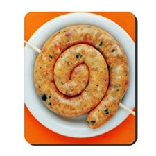 Coiled sausage Mousepad