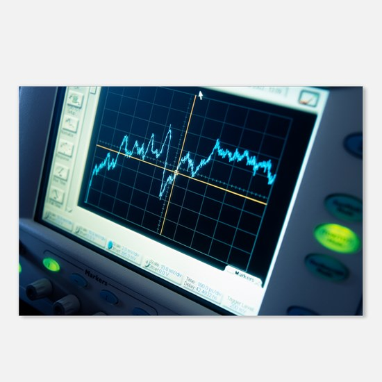 Oscilloscope trace Postcards (Package of 8)
