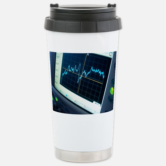 Oscilloscope trace Stainless Steel Travel Mug